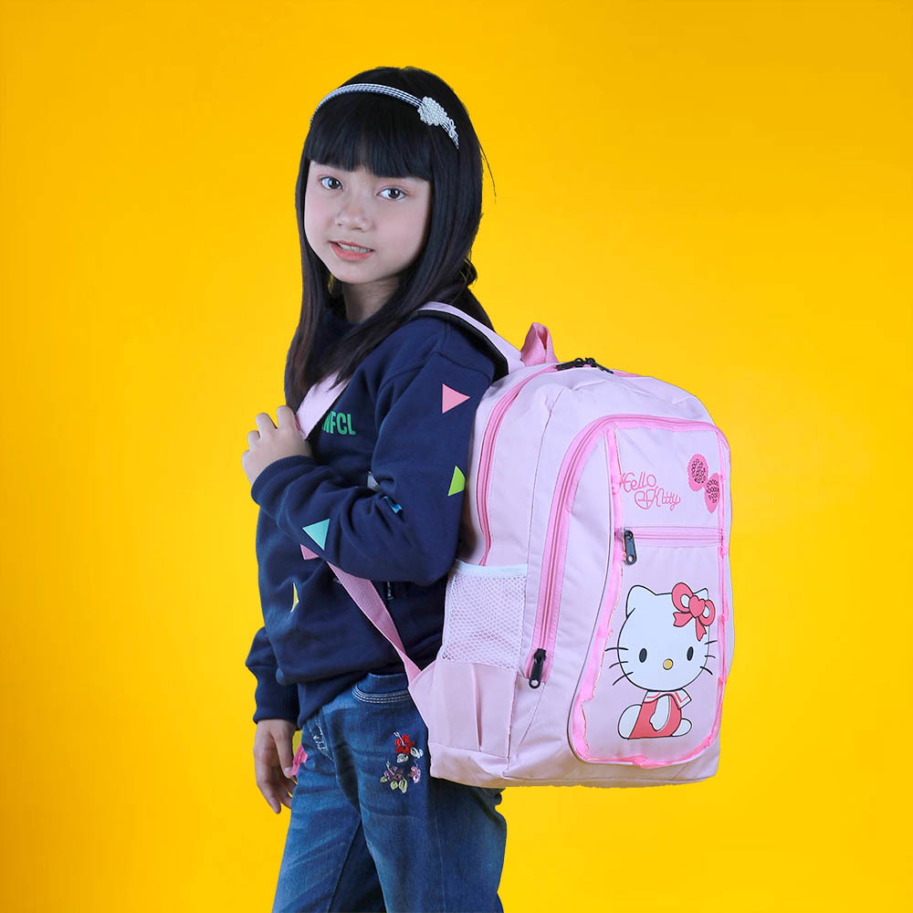Tas Back Pack Anak Perempuan Hello Kitty 2in1 BR 306