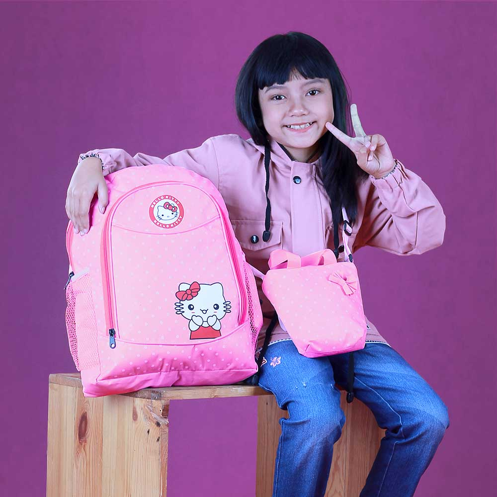 Tas Back Pack Anak Perempuan 3in1 Hello Kitty BR 321