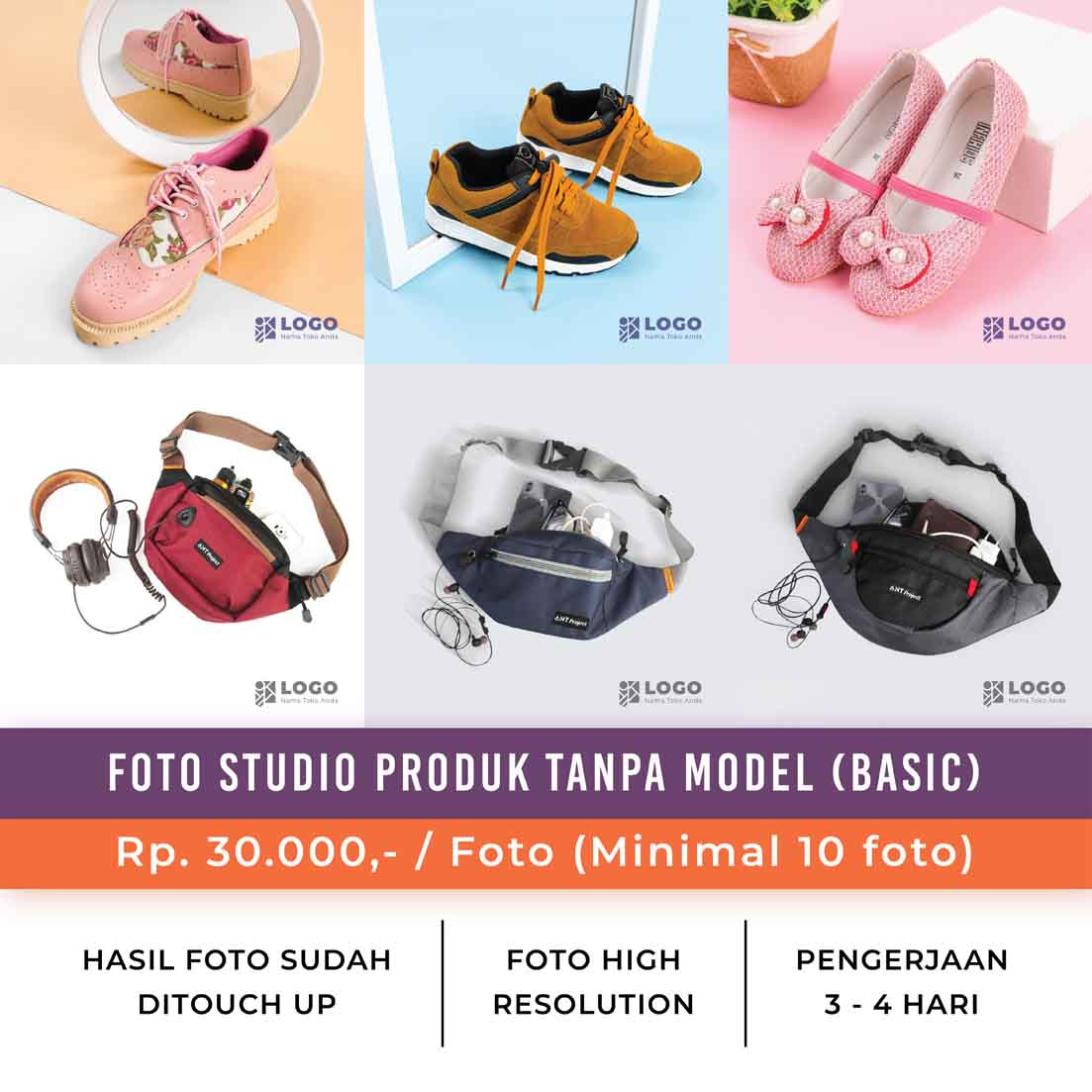 Foto Studio Produk Tanpa Model - Basic