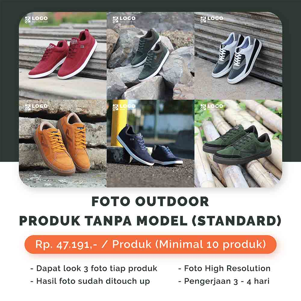 Foto Outdoor Produk Tanpa Model - Standard