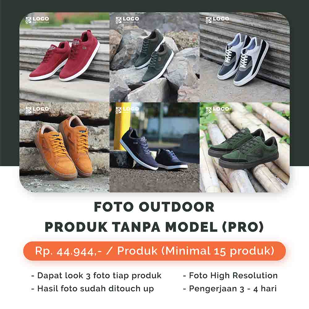 Foto Outdoor Produk Tanpa Model - Pro